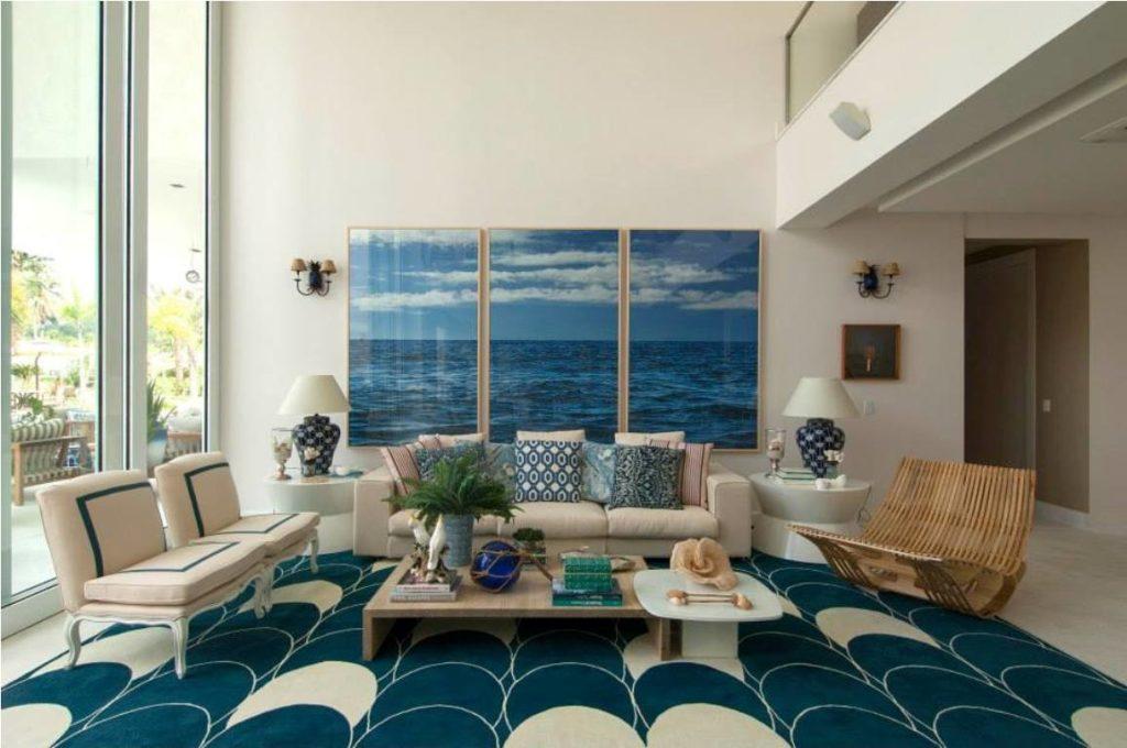 tapete azul petróleo