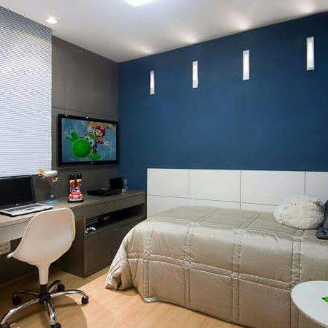 quarto parede azul