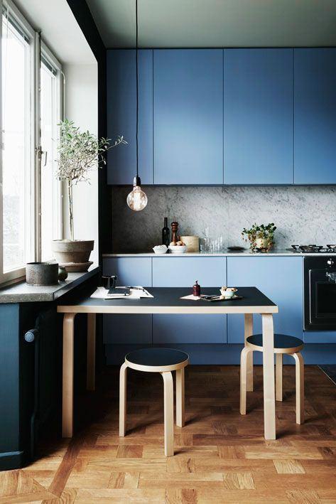 azul petróleo cozinha