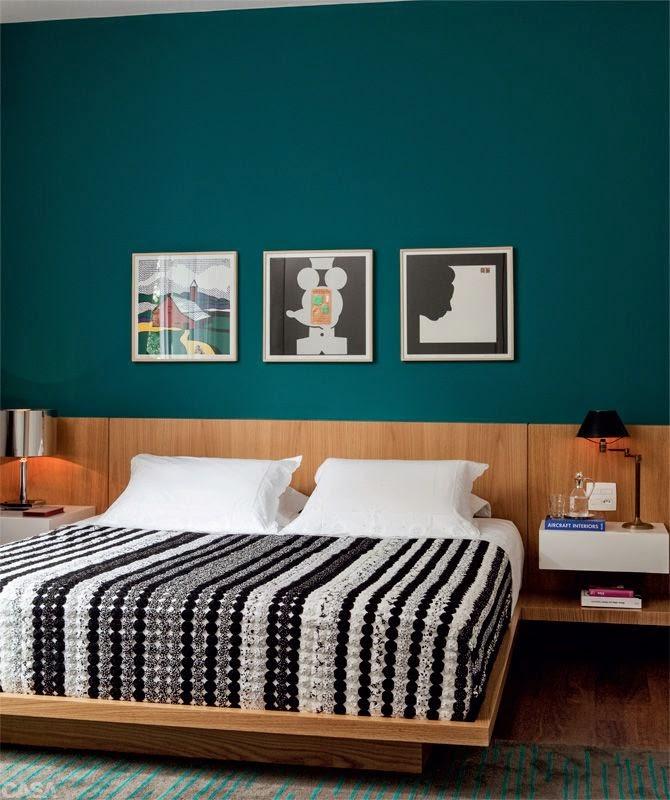 azul petróleo parede do quarto