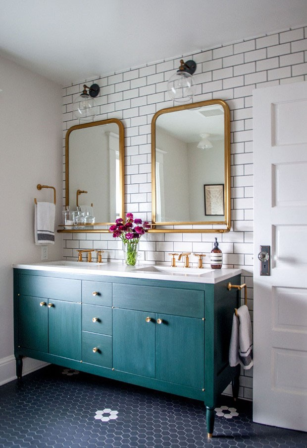 azul petróleo banheiro