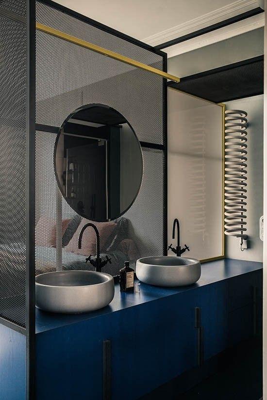 azul petróleo para banheiro