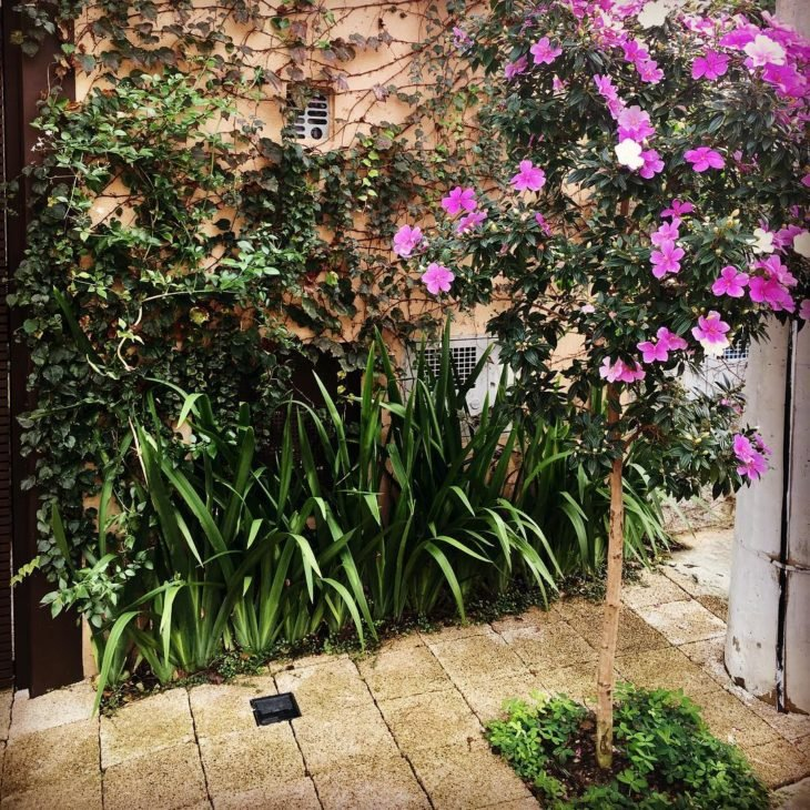 piso para jardim
