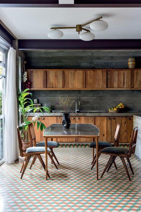 piso colorido decorativo