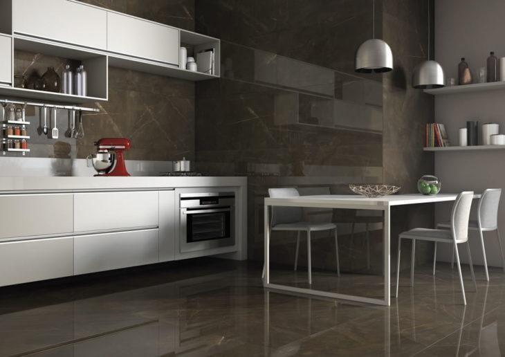 modelo de cozinha escura