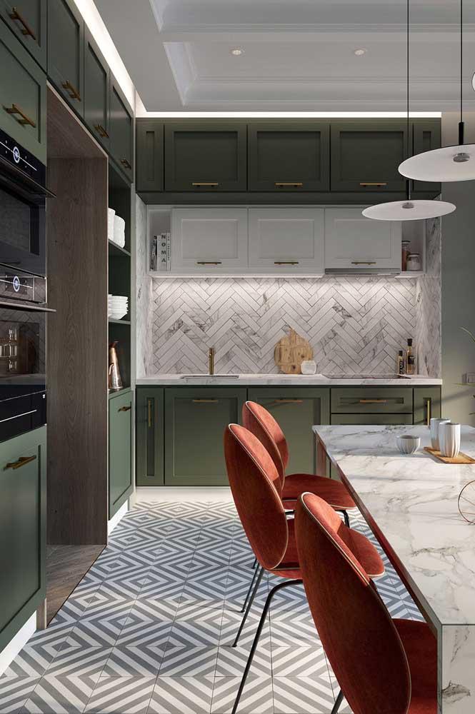 cozinha bem decorada pisos para cozinha