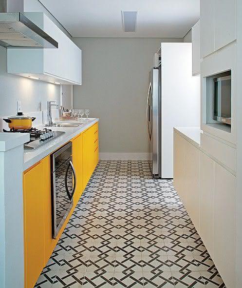 amarelo para decorar pisos para cozinha