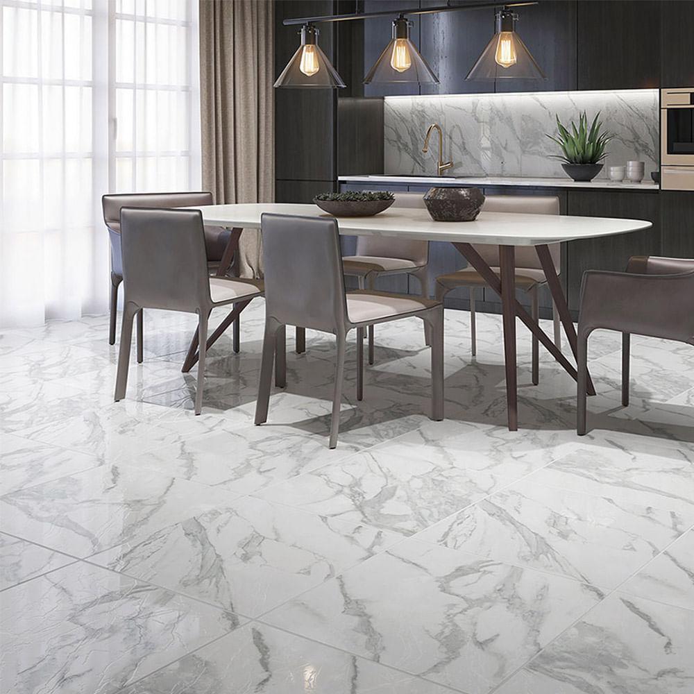 piso de mármore