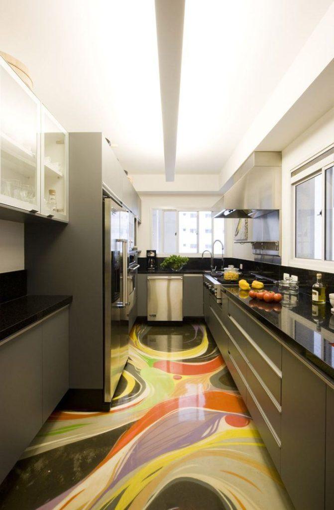 piso moderno colorido