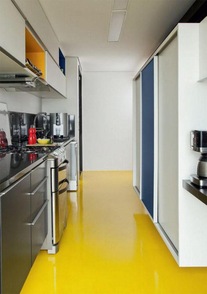 piso amarelo  pisos para cozinha
